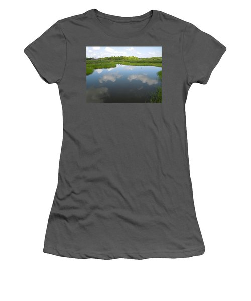 Marshland Women's T-Shirt (Junior Cut) by Ron Davidson