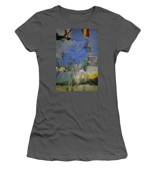 Women's T-Shirt (Junior Cut) featuring the painting Meatier Illogical Cold Front by Cliff Spohn