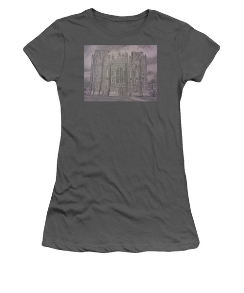 Medieval Cathedral Women's T-Shirt (Junior Cut) by Christy Saunders Church