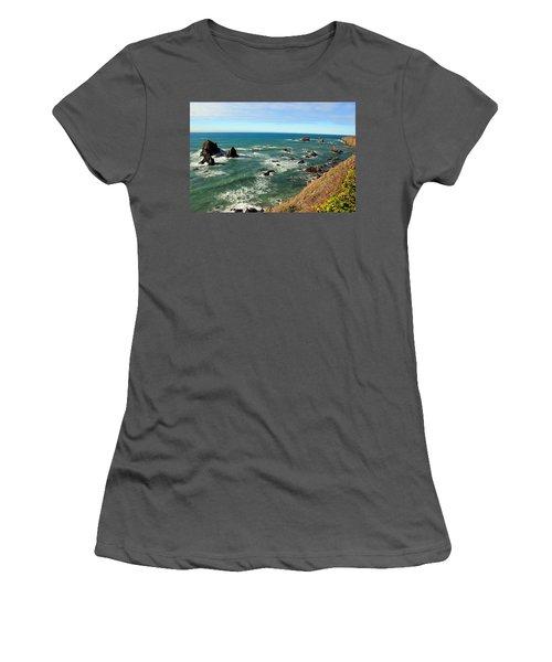 Mendocino Rocks Women's T-Shirt (Athletic Fit)