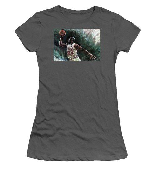 Michael Jordan Women's T-Shirt (Athletic Fit)