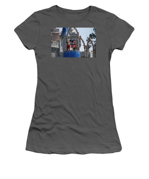 Mickey And Minnie In Living Color Women's T-Shirt (Junior Cut) by Rob Hans