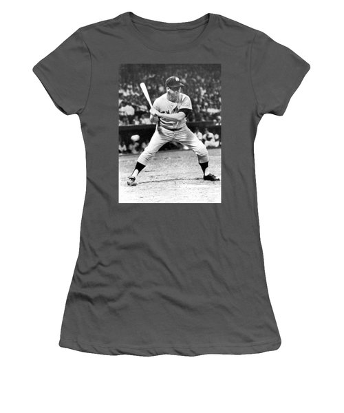 Mickey Mantle At Bat Women's T-Shirt (Athletic Fit)