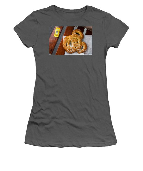 Mickey Mouse Shaped Pretzel Women's T-Shirt (Athletic Fit)