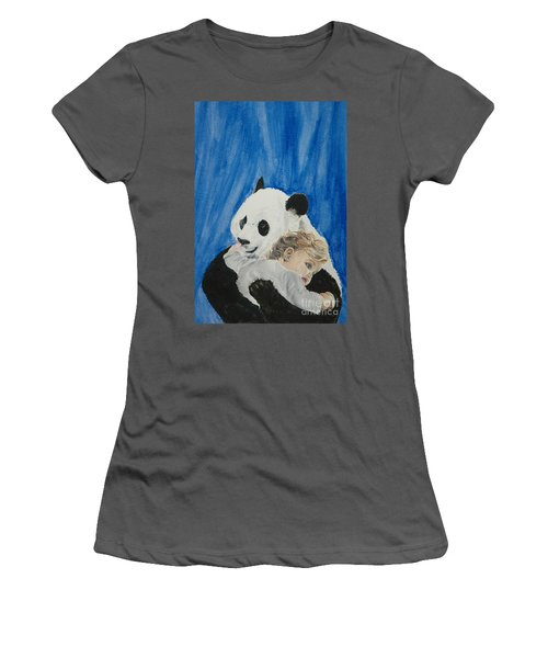 Mika And Panda Women's T-Shirt (Athletic Fit)