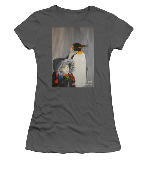 Mika And Penguin Women's T-Shirt (Athletic Fit)