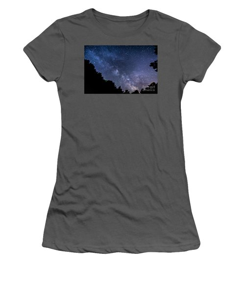 Milky Way Over Silver Springs Campground Women's T-Shirt (Athletic Fit)