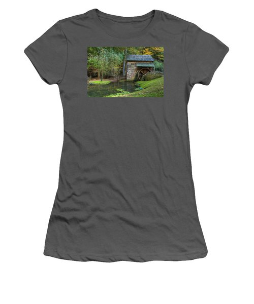 Mill Pond In Woods Women's T-Shirt (Athletic Fit)