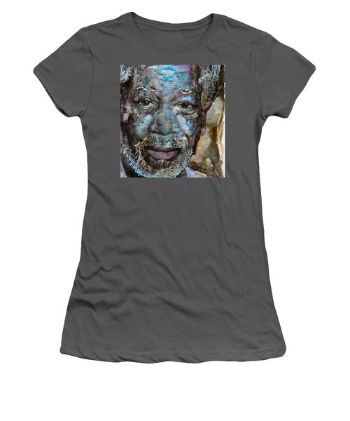 Women's T-Shirt (Junior Cut) featuring the painting Million Dollar Baby by Laur Iduc