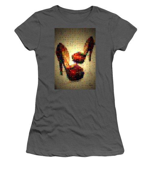 Misbehavin Shoes Women's T-Shirt (Athletic Fit)