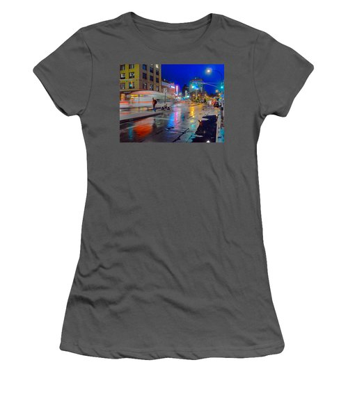 Missed The Bus Women's T-Shirt (Athletic Fit)