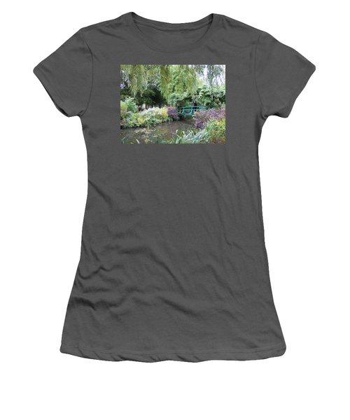 Monet's Japanese Bridge Women's T-Shirt (Athletic Fit)