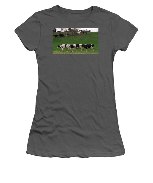 Moo Train Women's T-Shirt (Athletic Fit)