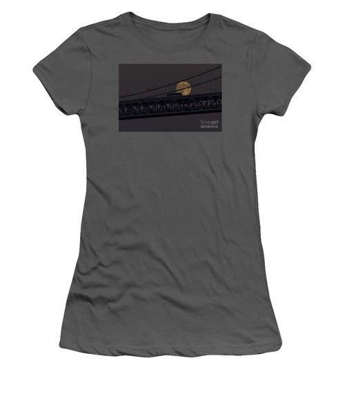 Women's T-Shirt (Junior Cut) featuring the photograph Moon Bridge Bus by Kate Brown