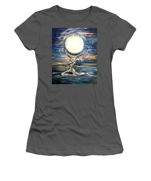 Moon Goddess Women's T-Shirt (Athletic Fit)