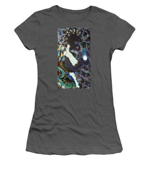 Moon Guardian - The Keeper Of The Universe Women's T-Shirt (Junior Cut) by Apanaki Temitayo M