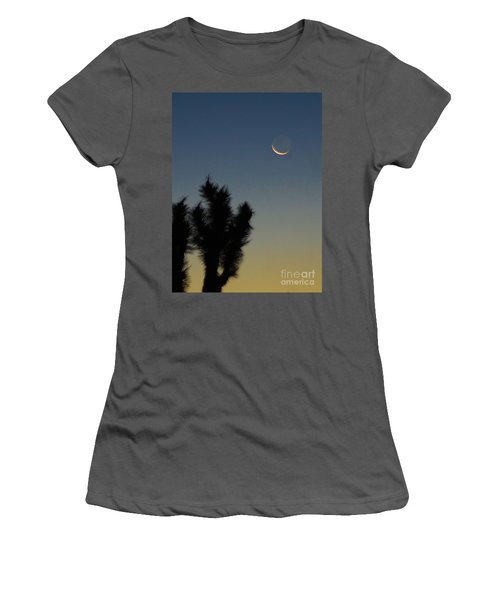 Women's T-Shirt (Junior Cut) featuring the photograph Moon Kissed by Angela J Wright
