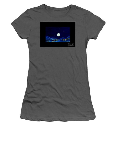 Moonlight. Winter Collection Women's T-Shirt (Athletic Fit)