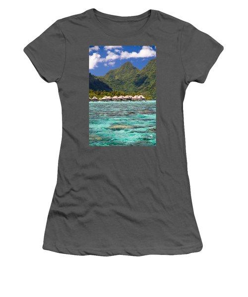 Moorea Lagoon No 3 Women's T-Shirt (Athletic Fit)