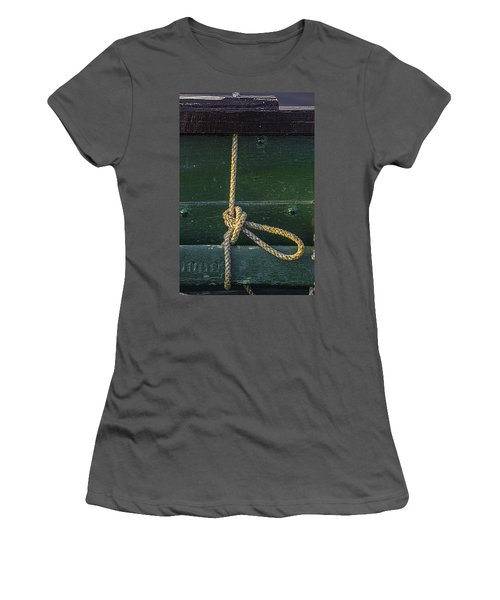 Women's T-Shirt (Junior Cut) featuring the photograph Mooring Hitch by Marty Saccone