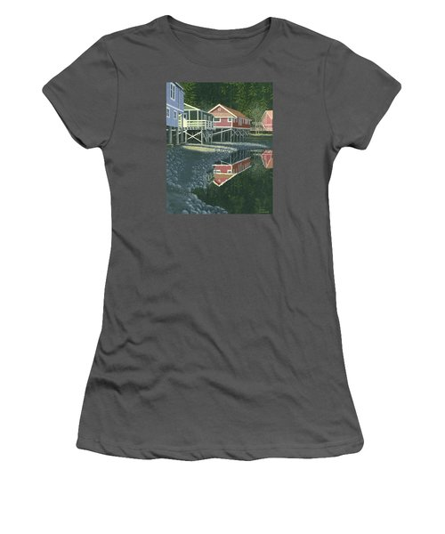 Morning At Telegraph Cove Women's T-Shirt (Junior Cut) by Gary Giacomelli