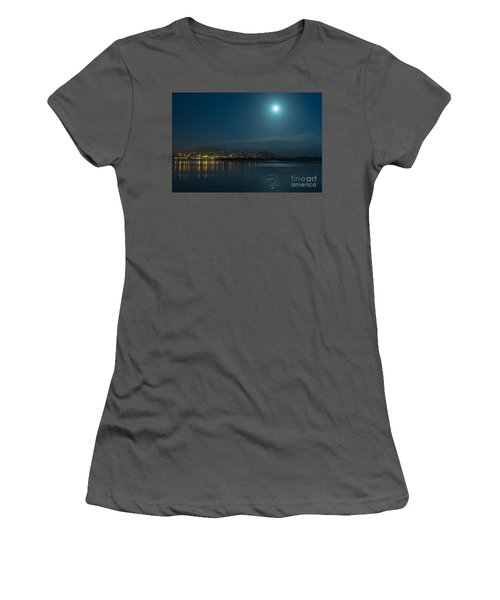 Morro Bay At Night Women's T-Shirt (Athletic Fit)