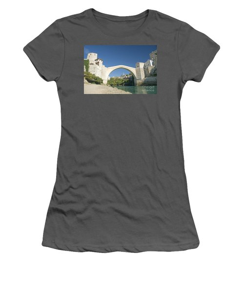 Mostar Bridge In Bosnia Women's T-Shirt (Athletic Fit)