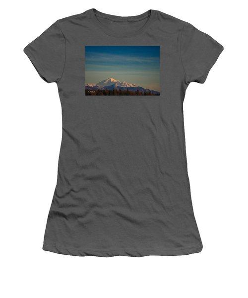 Mount Baker Sunset Women's T-Shirt (Athletic Fit)