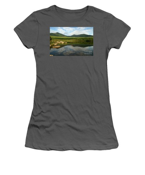 Women's T-Shirt (Junior Cut) featuring the photograph Mount Katahdin by Jeannette Hunt
