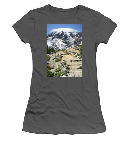 Mount Rainier Trail Women's T-Shirt (Athletic Fit)