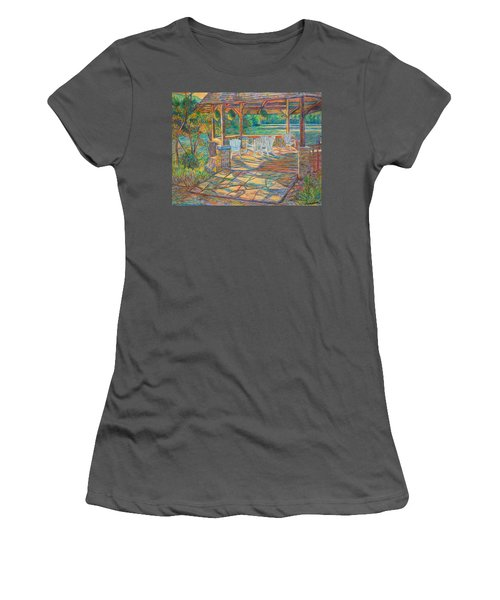 Mountain Lake Shadows Women's T-Shirt (Athletic Fit)