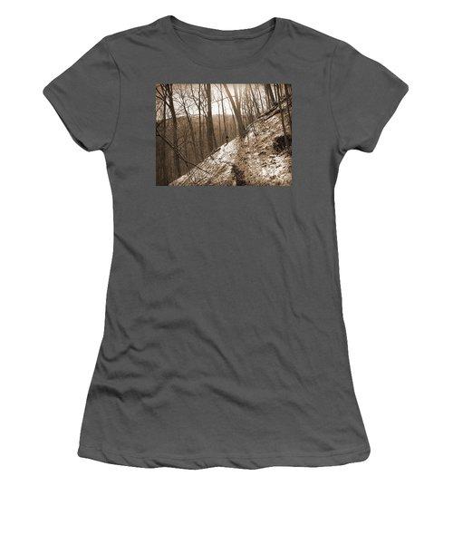 Mountain Side Women's T-Shirt (Junior Cut) by Melinda Fawver
