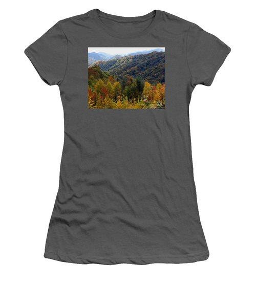 Mountains Leaves Women's T-Shirt (Athletic Fit)