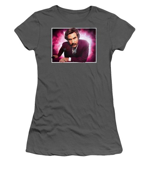Mr. Ron Mr. Ron Burgundy From Anchorman Women's T-Shirt (Athletic Fit)