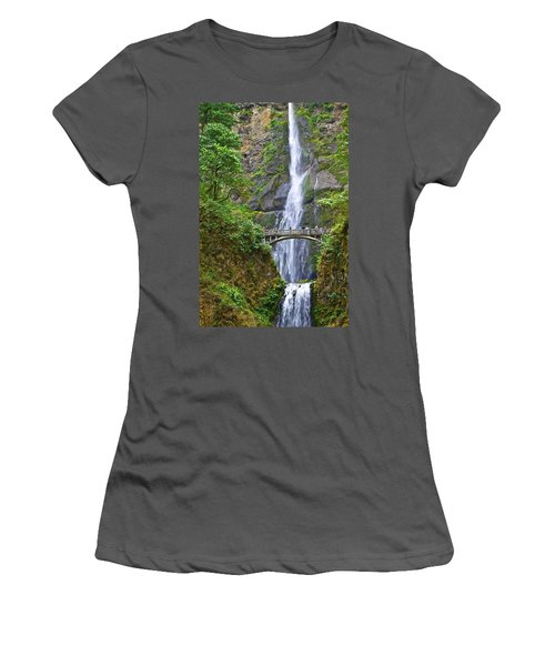 Multnomah Falls 4 Women's T-Shirt (Athletic Fit)