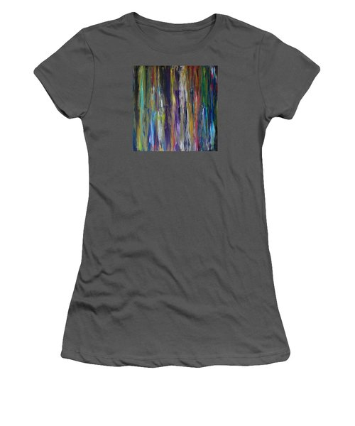 Women's T-Shirt (Junior Cut) featuring the painting Must First Survive Thyself by Michael Cross
