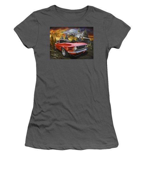 Mustangs 3 Women's T-Shirt (Athletic Fit)