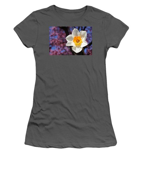 Narcissus And Cherry Blossoms Women's T-Shirt (Athletic Fit)