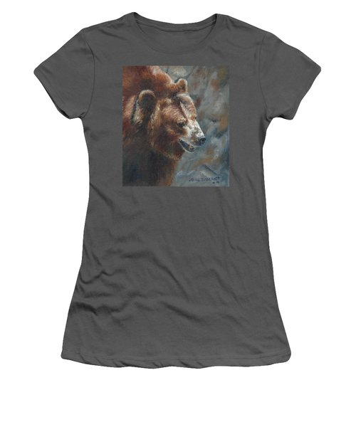 Nate - The Bear Women's T-Shirt (Junior Cut) by Lori Brackett