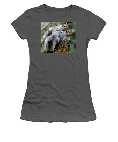 Fifty Shades Of Gray Squirrel Women's T-Shirt (Athletic Fit)