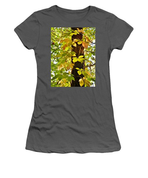 Neon Leaves Women's T-Shirt (Athletic Fit)