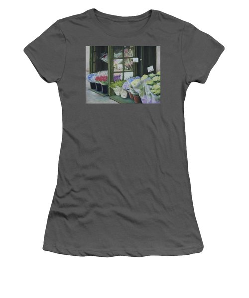 New York Flower Shop Women's T-Shirt (Athletic Fit)