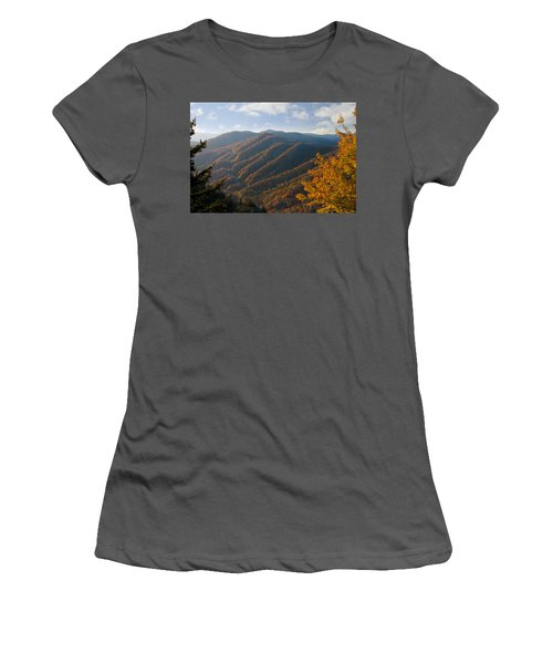 Newfound Gap Women's T-Shirt (Junior Cut) by Melinda Fawver