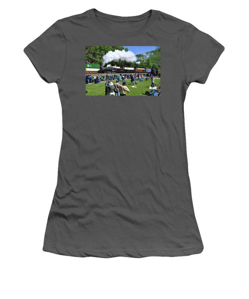 Nickel Plate Berkshire At Horseshoe Curve Women's T-Shirt (Athletic Fit)