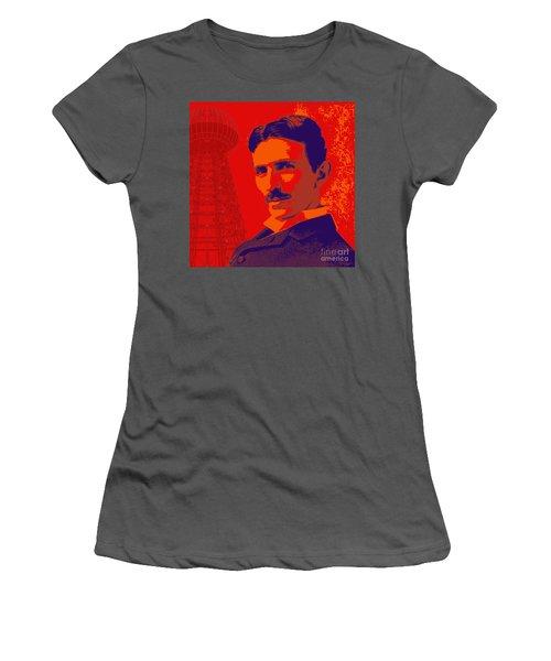 Nikola Tesla #1 Women's T-Shirt (Athletic Fit)