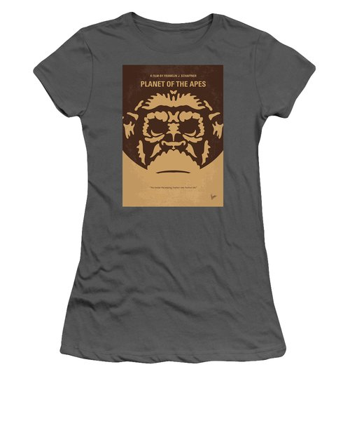 No270 My Planet Of The Apes Minimal Movie Poster Women's T-Shirt (Athletic Fit)