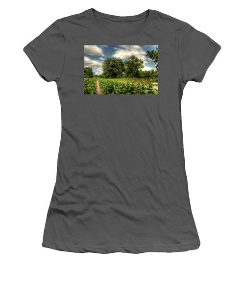 North Carolina Tobacco Farm Women's T-Shirt (Athletic Fit)