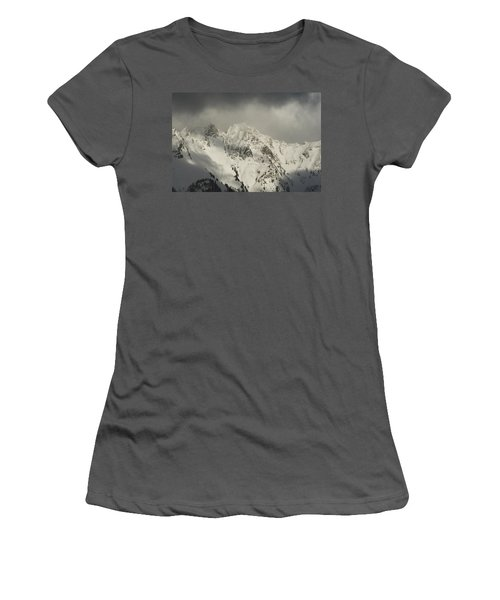 North Cascades Mountains In Winter Women's T-Shirt (Athletic Fit)