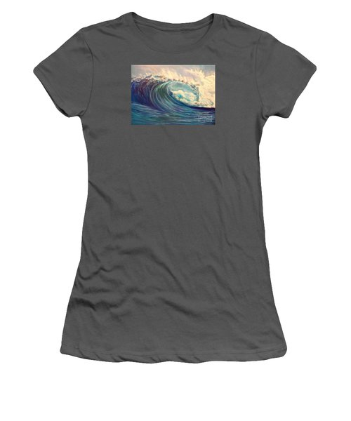 Women's T-Shirt (Junior Cut) featuring the painting North Whore Wave by Jenny Lee