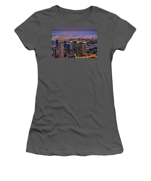 Women's T-Shirt (Athletic Fit) featuring the photograph Not Hong Kong by Ron Shoshani